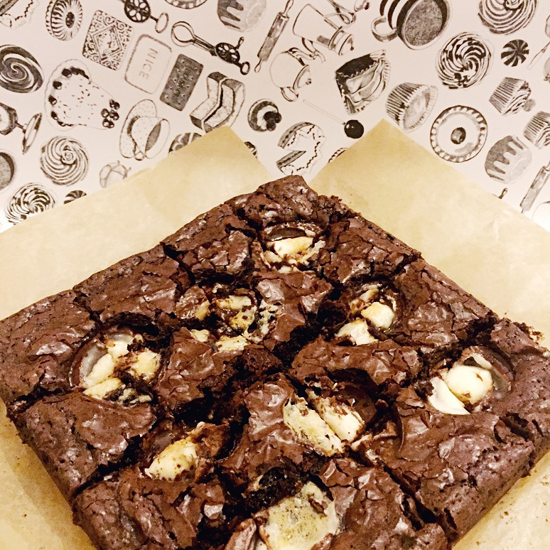 Creme Egg Brownies - In the Kitchen - This and That Blog