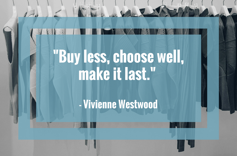 Clothes Rail - Buy Less, Choose Well - This and That Blog