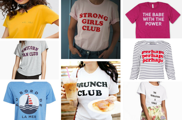 Slogan Tees - Clothes Rail- This and That Blog
