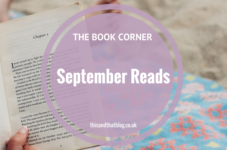 September Reads - The Book Corner - This and That Blog