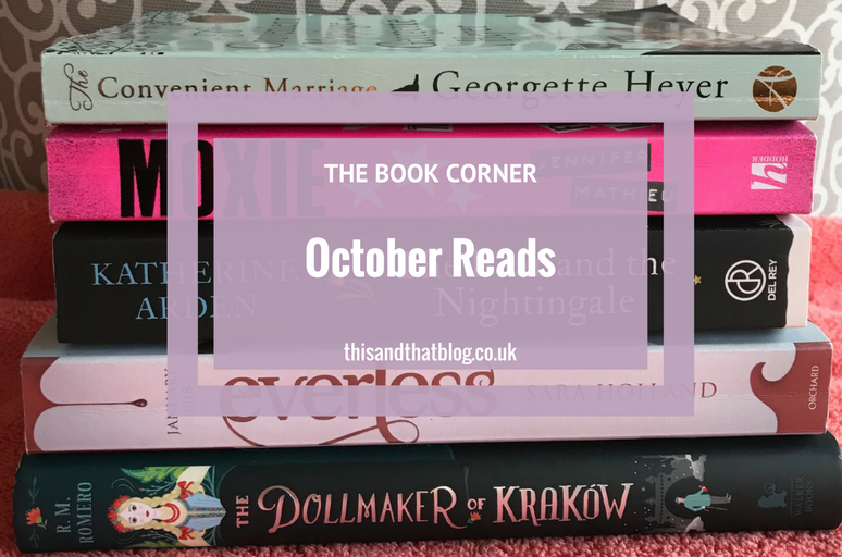 October Reads - The Book Corner - This and That Blog